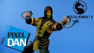 Scorpion Mortal Kombat X Mezco Toys Figure Video Review