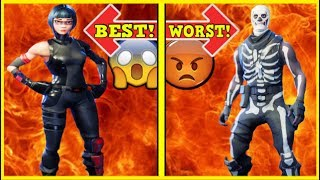 RANKING EVERY EPIC SKIN FROM WORST TO BEST! | Fortnite Battle Royale!