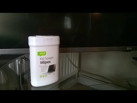 how to clean a dirty flat screen tv safely with smat screen wipes.