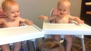 Videos para niños 👶😂 Bebé gemelo divertido riendo y jugando juntos hermana vs hermano