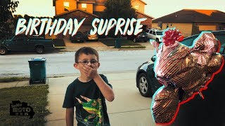 Surprised Son With Dream Bike