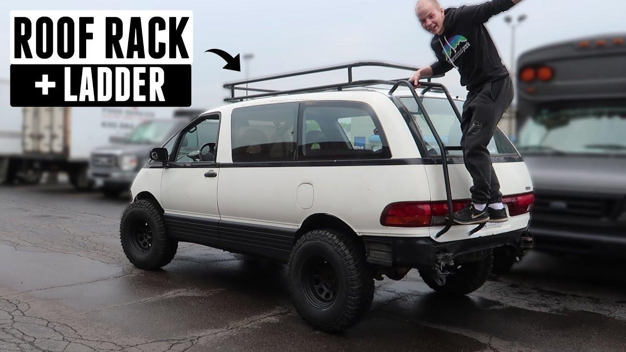 custom-roof-rack-ladder-for-the-lifted-mini-van
