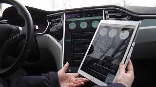 Tesla Model S Display vs. iPad PRO