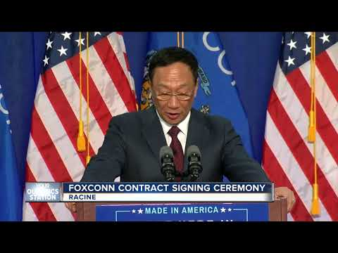Walker, Foxconn leader sign plant contract