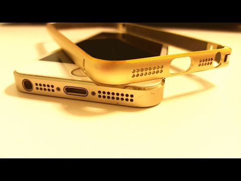 Iphone 7/6/5/SE thin champagne gold Metal Bumper Case Cover review
