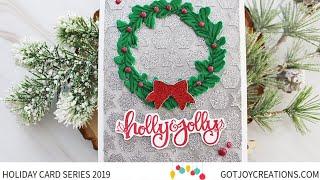 Gambar cover Got Joy Creations Holiday Card Series 2019   Pink & Main and Thermoweb Collaboration