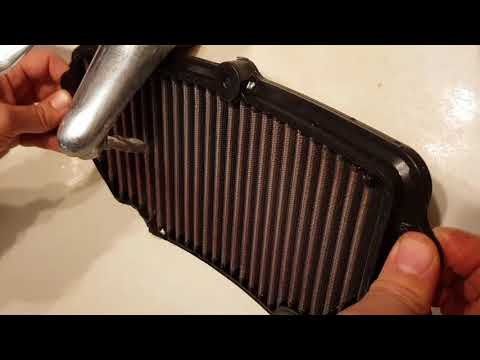 ZX6r 09 Air Filter cleaning