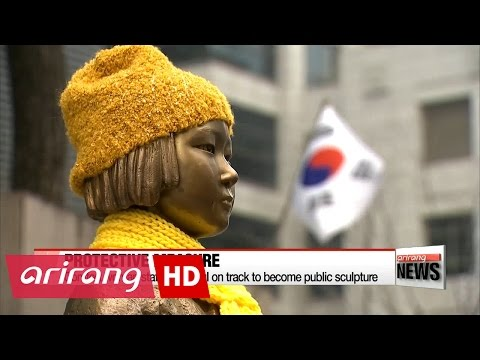 Comfort woman statue in Seoul on track to become public sculpture