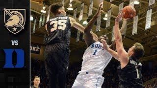 Army vs Duke Basketball Highlights (2018-19)