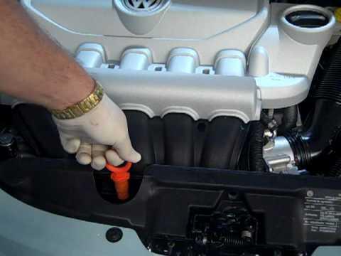Checking oil demonstration 2010 Volkswagen Beetle-Steve White VW Greenville SC