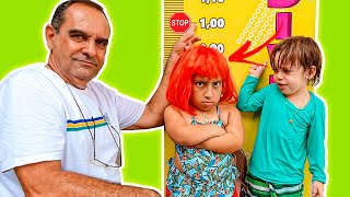 MC Divertida quer ser alta e pular na piscina |  kids wants to be taller & jump into the pool
