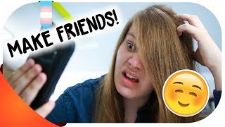 How To Make FRIENDS With Other TRANSGENDER TEENS!!! | Hannah Phillips Real