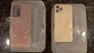 Samsung Note 20 Ultra vs iPhone 11 Pro FREEZE TEST! 🥶