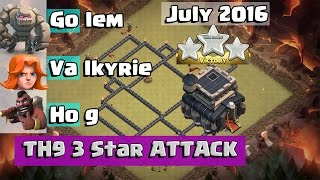 How to 3 STAR MAX TH9 with Low Hero GoVaHo | TH9 3 Star War Attack Strategy