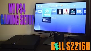 My PS4 Gaming Setup! (Unboxing Dell Monitor S2216H)