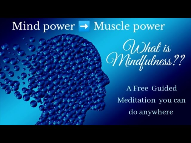 A QUICK FREE GUIDED MEDITATION YOU CAN DO  ANYWHERE /HIT THE REFRESH  BUTTON OF MIND /MIND FITNESS