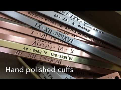 How to make hand stamped bangle cuffs bracelets at home