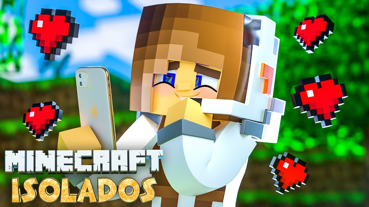 Minecraft ISOLADOS - EP 25 | O CRUSH DA BIBI LIGOU NO MEIO DO VÍDEO!