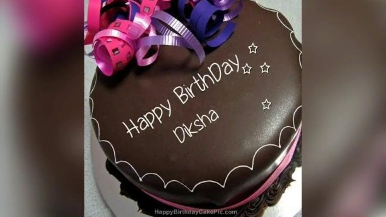 Birthday Cake With Name Tag ~ Happy birthday diksha birthday names video youtube