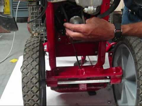 How to change the belt on an Earthquake 3365, 3365PS, and 3365B Front Tine Rototiller  YouTube