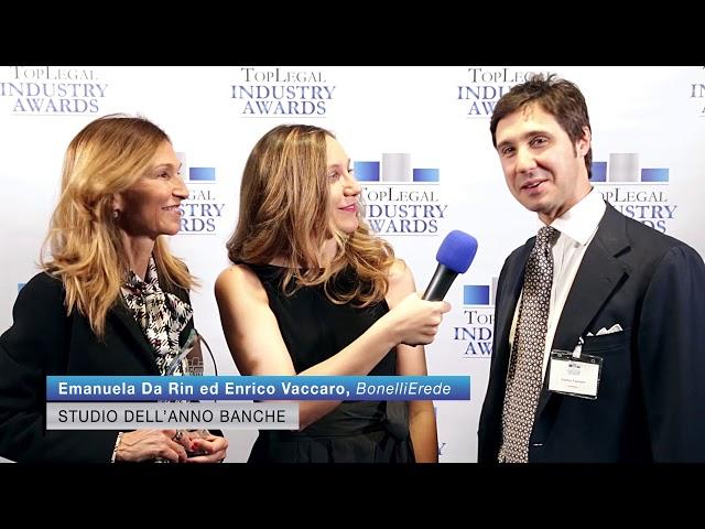 Emanuela Da Rin ed Enrico Vaccaro, BonelliErede - TopLegal Industry Awards 2019