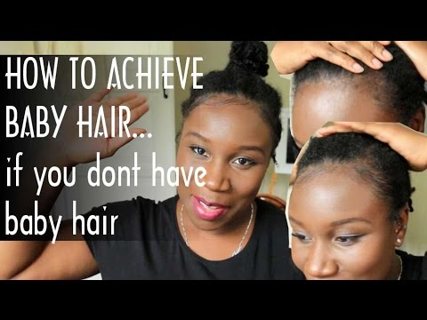 HOW TO LAY BABY HAIRS... When you don't have baby hairs | 4C HAIR | tutorial