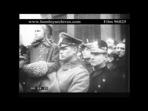 Nazi occupation of Prague, Czechoslovakia, March 1939.  Archive film 96825