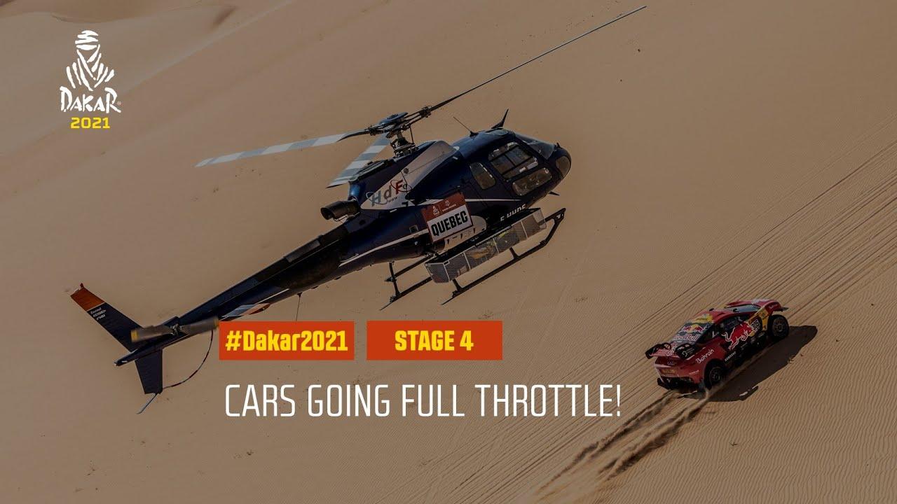 #DAKAR2021 - Stage 4 - Cars going full throttle!