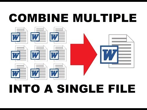 How To Combine Multiple MS Word Documents Into A Single One | Easiest Way [ UPDATED ]