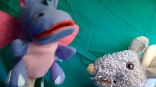 "I've got the joy , joy, joy, down in my heart"" sung by Hippo and Ratty"