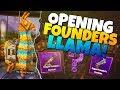 OPENING FOUNDERS Llama! & MYTHIC! | Fortnite Save The World