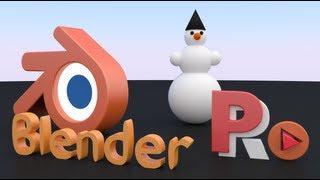 Blender. Перемещение, вращение, масштабирование, создание снеговика. Видеоурок №002. На русском.