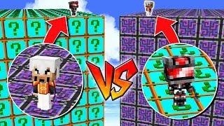 1000 LUCKY BLOCKS PLURAL vs 1000 LUCKY BLOCKS FUTURO! 💥😱 LUCKY BLOCKS MINECRAFT MOD