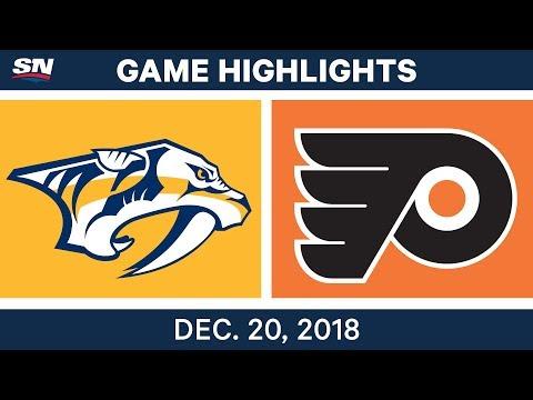 NHL Highlights | Predators vs. Flyers - Dec 20, 2018