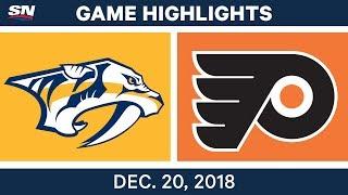 NHL Highlights   Predators Vs. Flyers - Dec 20, 2018