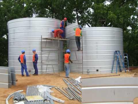 Modular Water tanks by Steelfab water solutions
