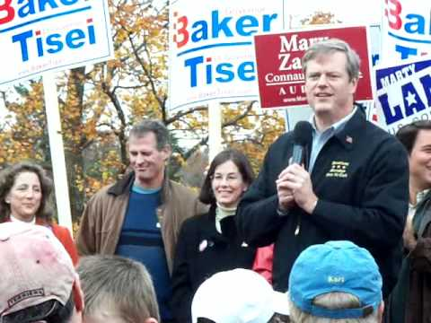 Charlie Baker for Massachusetts Governor October 30, 2010 at Institute Park Worcester, MA