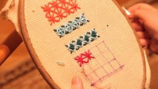 Как вышивать болгарским крестиком , мои доработки