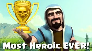 """Clash of Clans """"Most Heroic Wizard Ever"""" Win Clash of Clans With Peter17$"""
