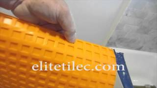 Part 1 How To Install Wood Look Plank Tile On Schluter Ditra:  Ditra Explained