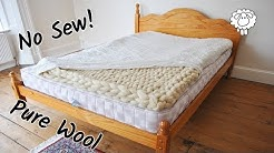 DIY Wool Mattress Topper (Easy No Sew)