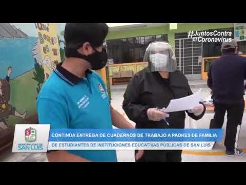 CONTINUA ENTREGA DE CUADERNOS DE TRABAJO EN INSTITUCIONES EDUCATIVAS DE SAN LUIS
