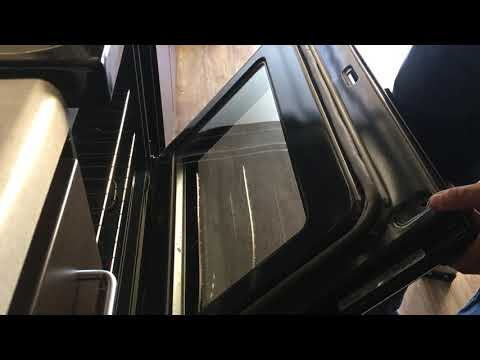 How to clean glass inside oven