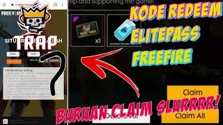 Kode Redeem Elite Pass TRAP Wajib Claim Slurrrr!! Free fire indonesia
