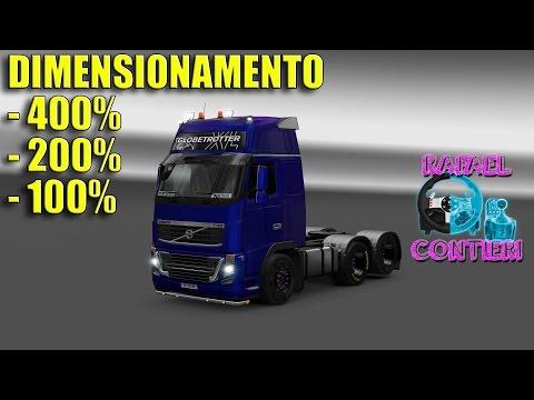 Euro Truck Simulator 2 Teste De Dimensionamento 400% X 200% X 100% - I3 7100+GTX1060+G27 - #35.1