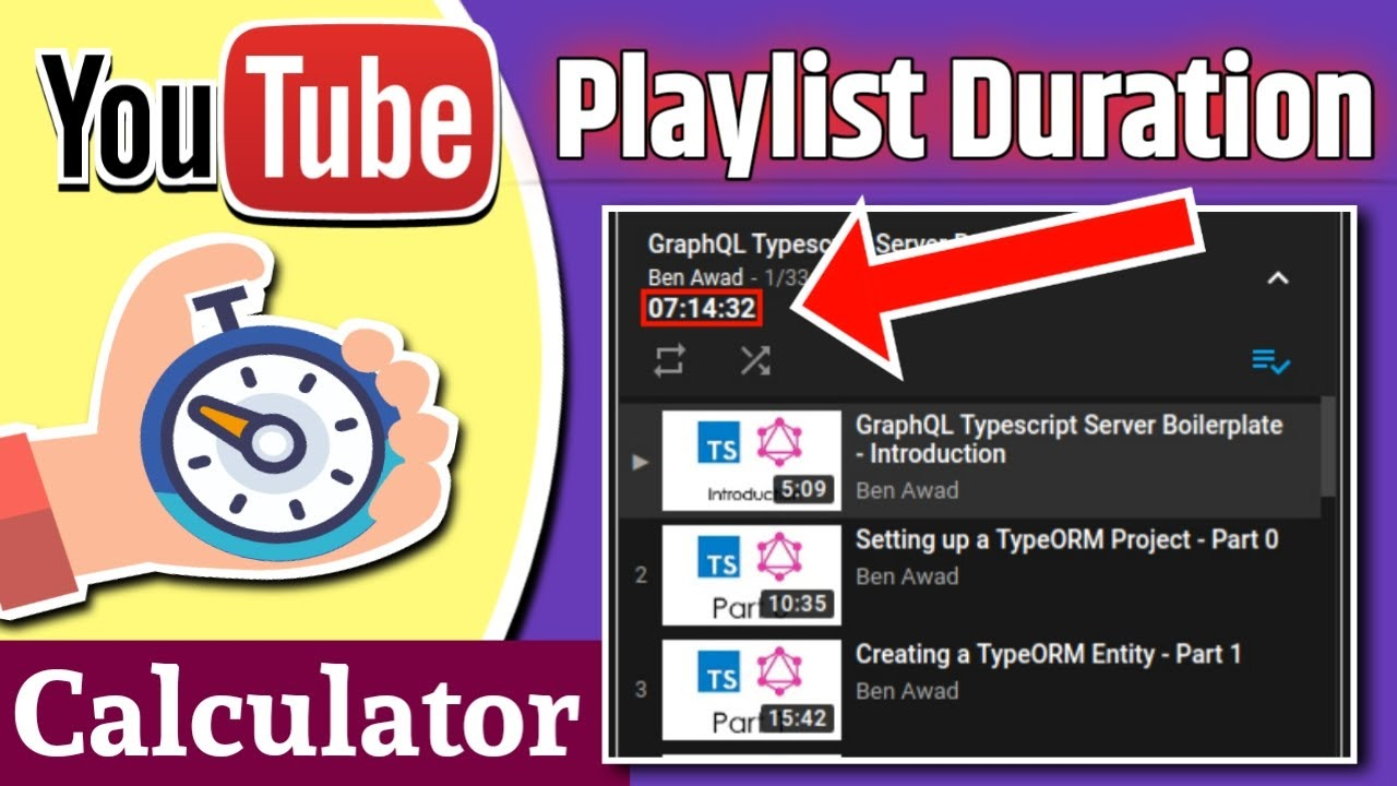 How to calculate total duration of youtube playlist   from mobile ...