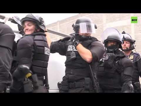 Massive deployment of police as Portland protests turn violent, 13 arrested