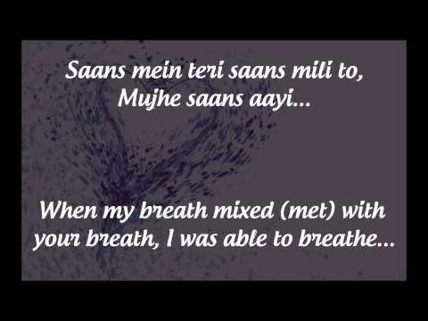 """""""Saans"""" Lyrics & English Translation - """"Jab Tak Hai Jaan"""" (2012)"""
