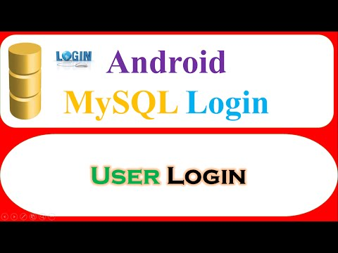 Android PHP MySQL User Registration Ep.02 :   Login User,Open DashBoard Activity