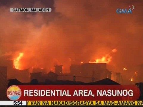 UB: Residential area, nasunog sa Catmon, Malabon